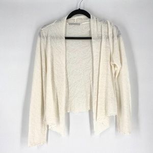Cut Loose open front light knit cream sweater S